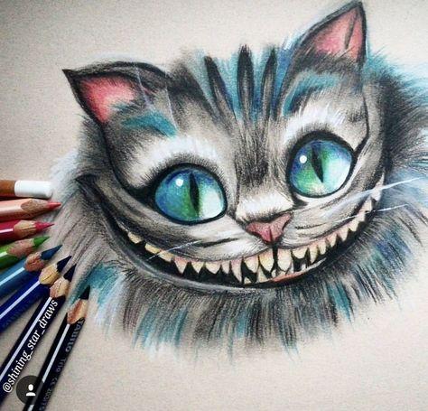 Pin Von Maria Rebollo Auf Para Dibujar Cheshire Cat Zeichnung