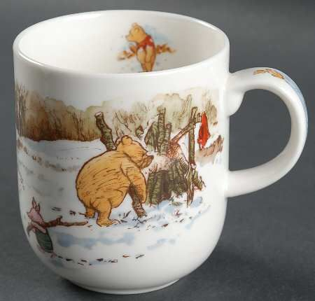 """""""the more is snows (tiddley pum) The more it goes (tiddley pum) the more it goes (tiddley pum) on snowing. Christmas Figurines, Christmas Mugs, Christmas Wishes, Hobbit Hole, The Hobbit, Eeyore Quotes, Hundred Acre Woods, Winnie The Pooh Friends, Valentines Mugs"""