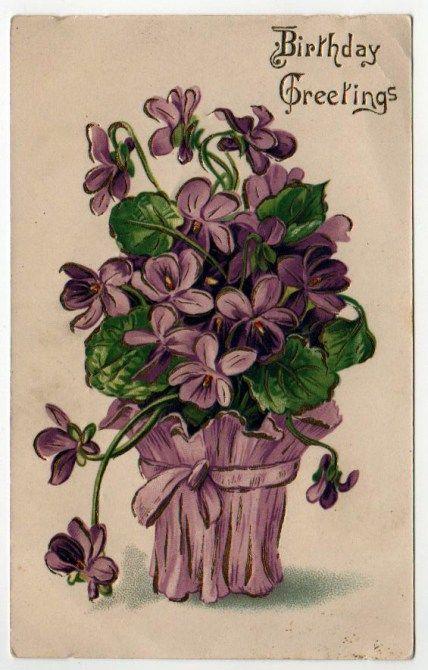 Birthday Free Vintage Illustrations Vintage Birthday Cards Vintage Birthday Vintage Greeting Cards