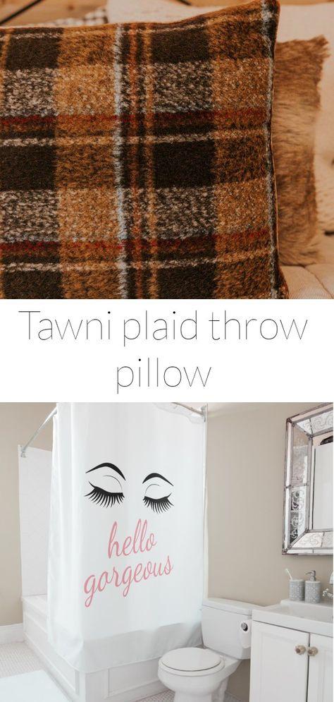 Tawni plaid throw pillow
