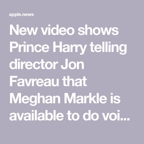 New video shows Prince Harry telling director Jon Favreau that Meghan Markle is available to do voiceovers, as Beyoncé laughs along in the background — Insider -  New video shows Prince Harry telling director Jon Favreau that Meghan Markle is available to do voi - #background #Beyonce #BritneySpears #director #favreau #harry #Insider #Jon #KateMiddleton #laughs #markle #meghan #prince #shows #telling #video #voiceovers