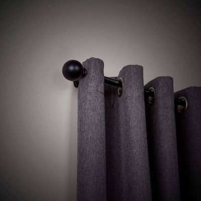 36 X66 Philip Decorative Room Darkening Curtain Panel Rod Black Sun Zero In 2020 Black Curtain Rods Panel Curtains Room Darkening Curtains