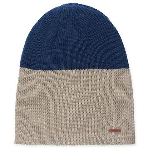 982b3aa2b61 LETHMIK Duotone Knit Beanie Cap Unisex Acrylic Winter Hat with Warm Polar  Fleece Lining Beige   Navy