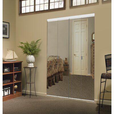 Custom Door And Mirror Mirrored Bi Fold Door Finish White Size