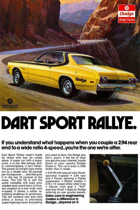 muscle car ads   1974 Dodge Dart Sport   Muscle Car Ads