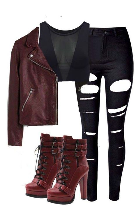 Cute Emo Outfits, Bad Girl Outfits, Teenage Outfits, Komplette Outfits, Fandom Outfits, Outfits For Teens, Pretty Outfits, Stylish Outfits, Super Hero Outfits