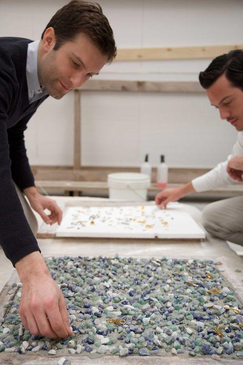 Interior architects and designers Nicolas Daul and Julien Demanche revisiting the art of terrazzo alla veneziana for Hermès Atelier petit h.