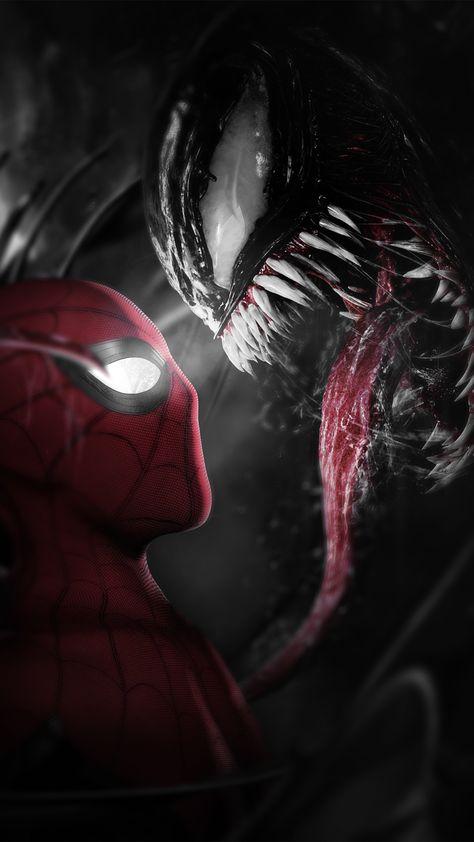 Spider-Man meets Venom Wallpaper - iPhone 12 Pro Max