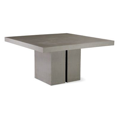 Seasonal Living Delapan Concrete Coffee Table Color Slate Gray