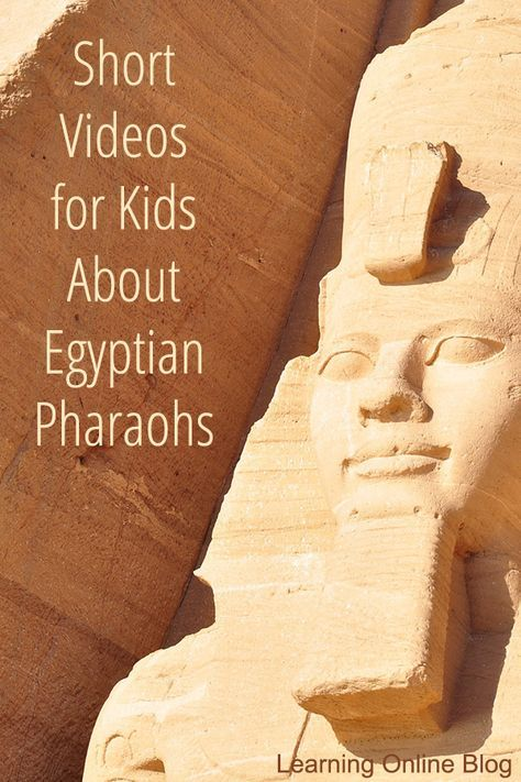 can learn about three famous Egyptian pharaohs Tutankhamun Hatshepsut and Ramses from these brief videos.Children can learn about three famous Egyptian pharaohs Tutankhamun Hatshepsut and Ramses from these brief videos. 6th Grade Social Studies, Teaching Social Studies, Teaching History, History Education, World History Projects, World History Lessons, Ancient Egypt For Kids, Ancient Egypt Lessons, Ancient Egypt Activities