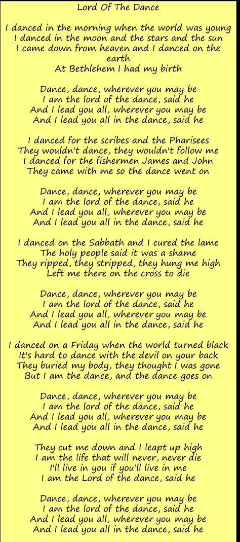 Lyric lord of the dance hymn lyrics : The 25+ best Lord of the dance ideas on Pinterest   Dancers pose ...