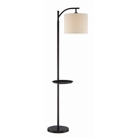 Kira Home York 63 Minimalist Tray Led Floor Lamp 7w Led Honey Beige Shade Standing Arc Light Hanging Lamp Walmart Com Floor Lamp Floor Lamp With Shelves Led Floor Lamp