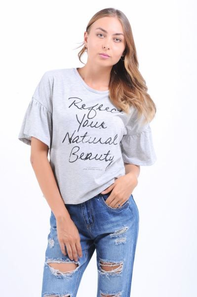 Bayan Tisort Yazi Baskili Kol Salas Gri T Shirt Gotik Dugun Genc Otantik Salas Gunluk Genc Klasik Kiz Kisa Bayangiyim Gri Tisort Tisort Modelleri