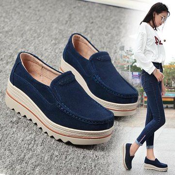 Comfortable Womens Breathable Suede