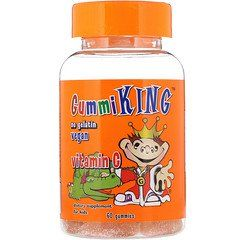 Gummiking فيتامين ج للأطفال 60 علكة Kids Multivitamin Vitamins Gummies