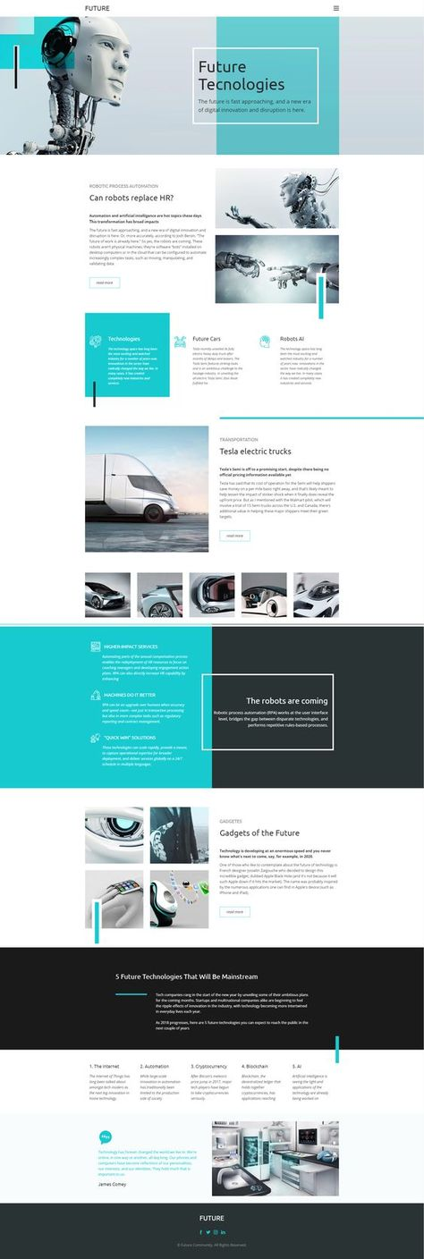 Website Designs for the Future of the Internet