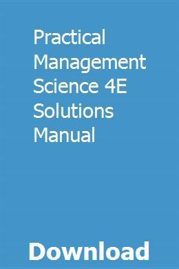Practical Management Science 4e Solutions Manual Pdf Download Full Online Manual Transmission Automatic Transmission Transmission