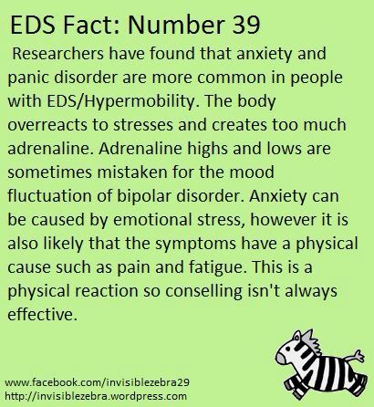 Ehlers Danlos Syndrome and Anxiety.