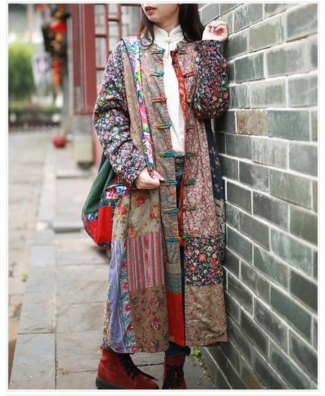Vintage Patchwork Overcoat (Each coat is unique) – A Lark And A Lady