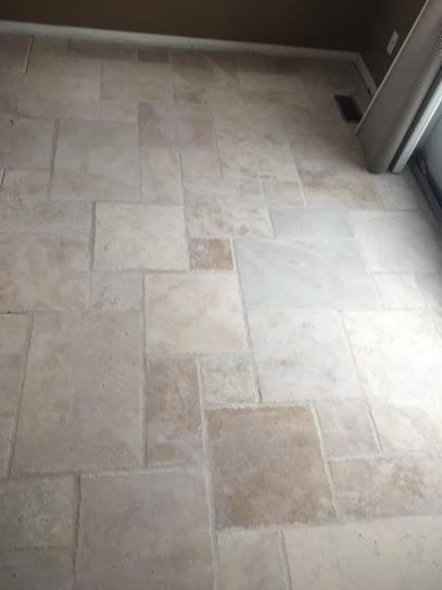 travertine floor and wall tile