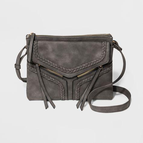 a5cf84607b11 Violet Ray Braided Trims Leanna Crossbody Bag - Gray