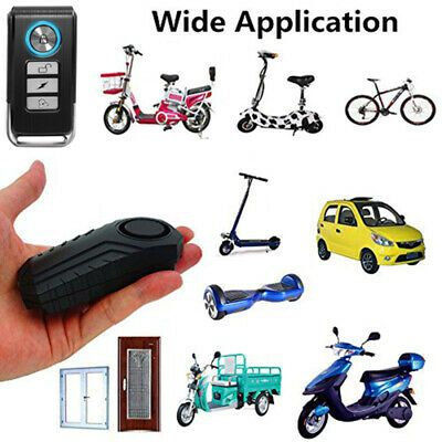 Details About 113db Wireless Anti Theft Vibration Motorcycle Bike