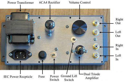 Control Diagram 4s Universal Tube Preamplifier Diy Amplifier Tube Vacuum Tube