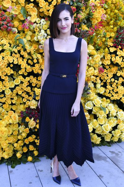Camilla Belle poses for portrait at The Beverly Hilton menu unveiling for The 76th Annual Golden Globe Awards.