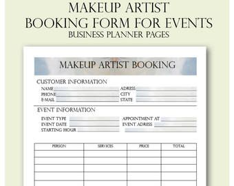 Photography Studio Client Booking Form Photoshop Template For