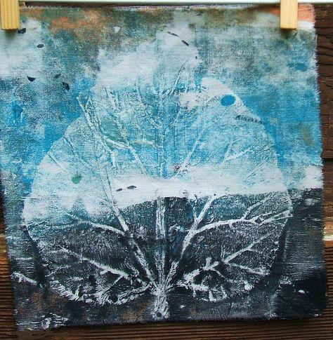 Big Rhubarb Leaf Print by Laurie Dorrell