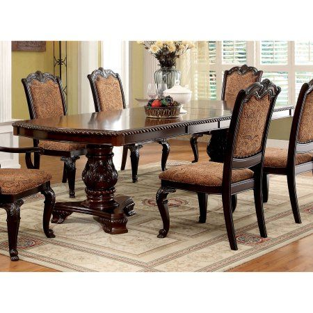 Furniture Of America Oskarre Formal Brown Cherry 108 Inch Dining