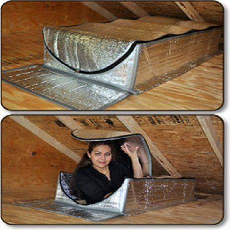 25 X 54 X 13 Smartattic Attic Stairway Tent Door Attic Pull Down Stairs Insulation Cover Seal Walmart Com In 2020 Attic Door Insulation Stairways Garage Door Insulation Kit