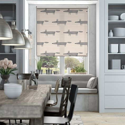 Let your imagination run wild with this cheeky chap making his way across your windows. And in a humble neutral colourway, this Mr Fox Mini roller blind is simply sweet.