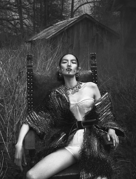 Fei Fei Sun by Mert & Marcus for Vogue Italia June 2015 | The Fashionography
