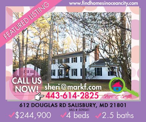 This home in 612 Douglas Rd Salisbury, MD might be the one that