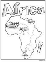 africa map ks1