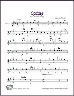 Spring Vivaldi Sheet Music Violin Sheet Music Free Sheet Music