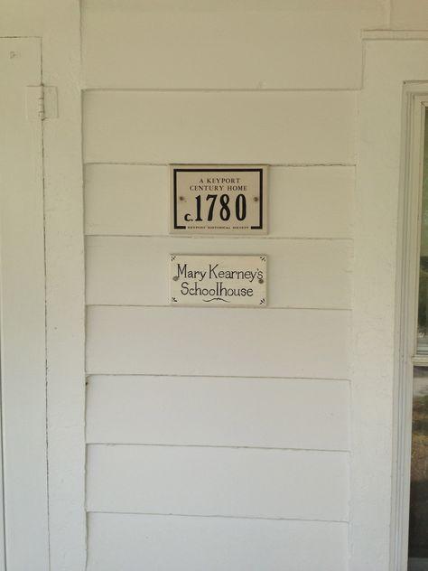 Mary Kearney's Schoolhouse 1780~Library House 1781~Keyport, NJ