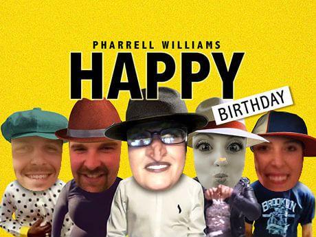 Jibjab Ecards Happy By Pharrell Williams Birthday Cast 5