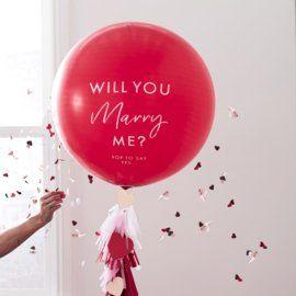 Spiksplinternieuw Ballon, will you marry me? grote ballon om iemand mee ten huwelijk DT-35