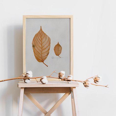 "cicy on Instagram: ""Brown leaves in frame 😛 (digital)🍂 . . . #procreate #watercolorillustration #watercolorist #watercolorfloral #watercolorflower…"""