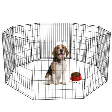 "48/"" 20/""36/""42/""24/""36/""Pet Cat Dog Foldable Crate Playpen Metal Cage Pen Kennel Six"