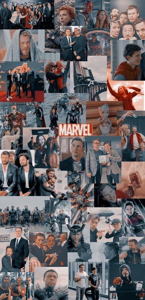 Marvel collage/background