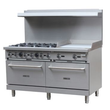 Empura Bdgr 6024g Lp 36 Liquid Propane Gas Range With Griddle 280 000 Btu Commercial Kitchen White Modern Kitchen Industrial Livingroom