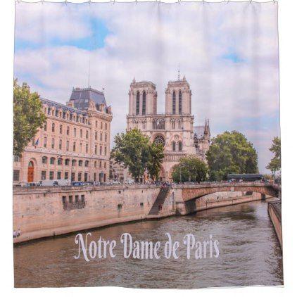 Notre Dame De Paris France Catholic Cathedral Shower Curtain