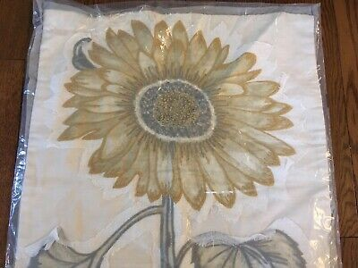 New Pottery Barn Sunflower Applique Embroidered Spring Botanical Pillow 20 Nwt Fashion Home Garden Case Crafts Pumpkin