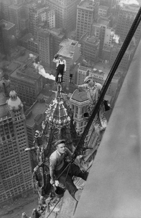 New York City construction steel worker balancing | Etsy