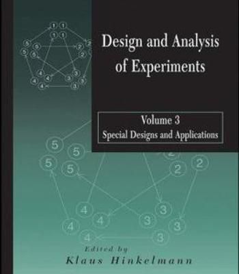 Design And Analysis Of Experiments Special Designs And Applications Volume 3 Pdf Experiments Analysis Application
