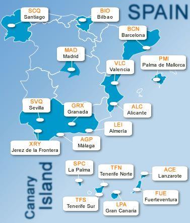 Mapas De Espanha Espanha Viagem E Aeroportos