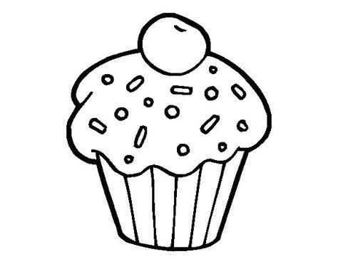 Risultati Immagini Per Cupcakes Disegni Da Colorare Disegno Cibo